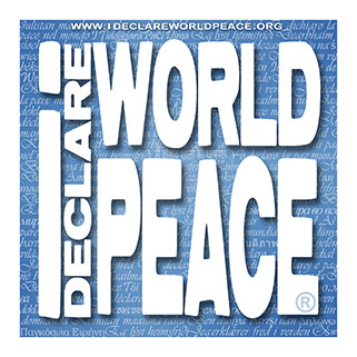 IDWP I Declare World Peace logo.